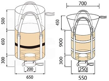 粉漏れ防止フレコンバッグ